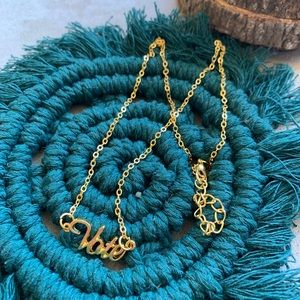 Jewelry - Vote necklace 💕 gold